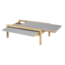 Table Basse Extensible Chêne Taupe