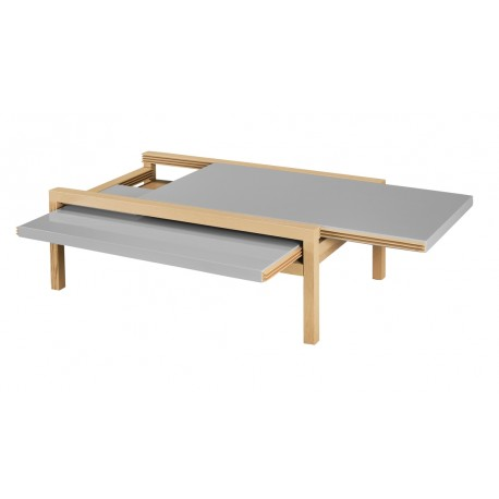 Table Basse Rectangle Extensible Chêne et Taupe