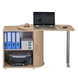 Bureau Chêne Table Pivotante et Rangement