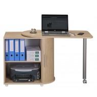 Bureau Informatique Chene avec table pivotante