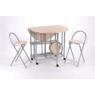 Table Repas Ovale et 4 Chaises Gain de Place