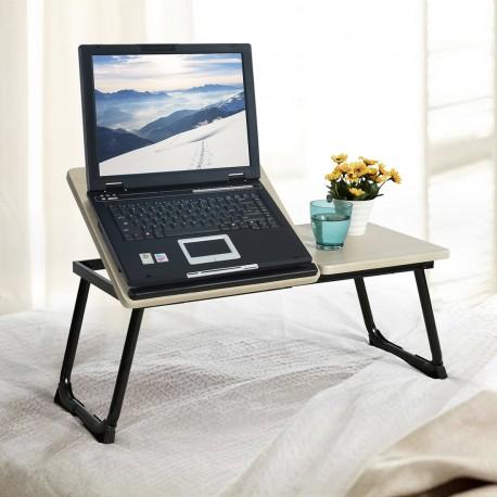 Plateau Inclinable pour ordinateur portable Hêtre et Blanc