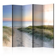 Paravent 5 volets  Morning walk on the beach II [Room Dividers]