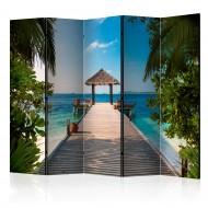 Paravent 5 volets  Hawaiian dream II [Room Dividers]