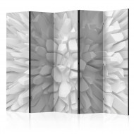 Paravent 5 volets  White dahlia II [Room Dividers]