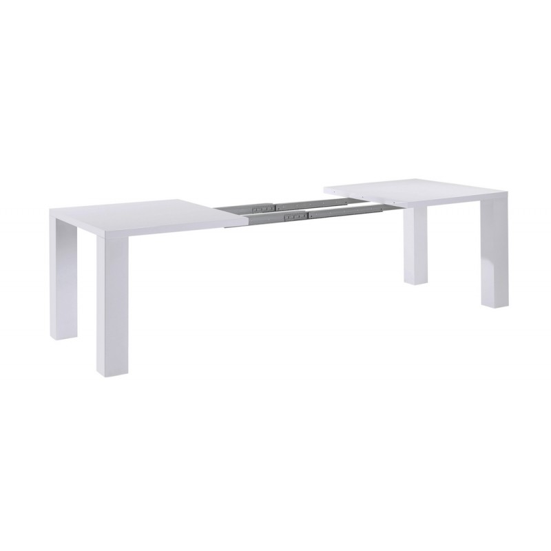 Table de s jour blanche extensible 250 cm beaux meubles for Table de sejour