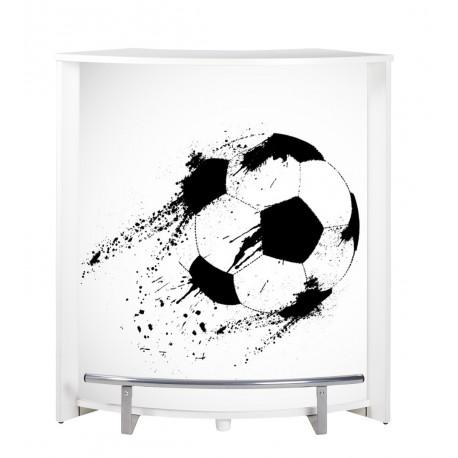 comptoir de bar foot blanc 96 cm beaux meubles pas chers. Black Bedroom Furniture Sets. Home Design Ideas