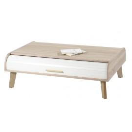 Table Basse Vintage Chêne 2 Rideaux