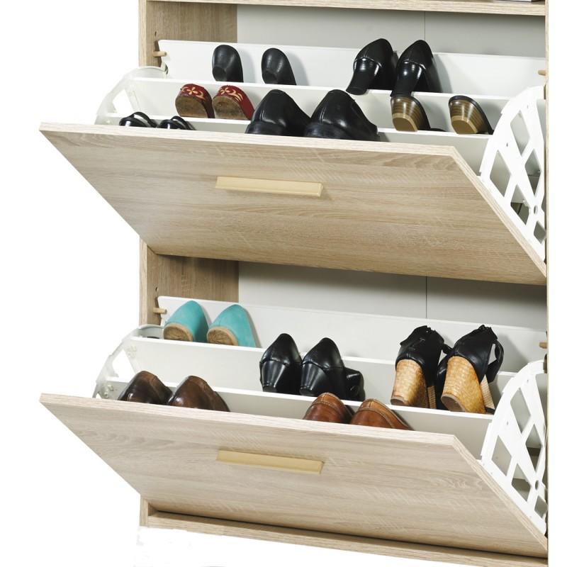 meuble chaussures ch ne abattants ch ne vintage beaux meubles pas chers. Black Bedroom Furniture Sets. Home Design Ideas
