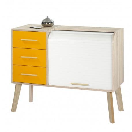 Meuble d 39 entr e ch ne 3 tiroirs oranges beaux meubles pas chers - Les trois suisses meubles ...