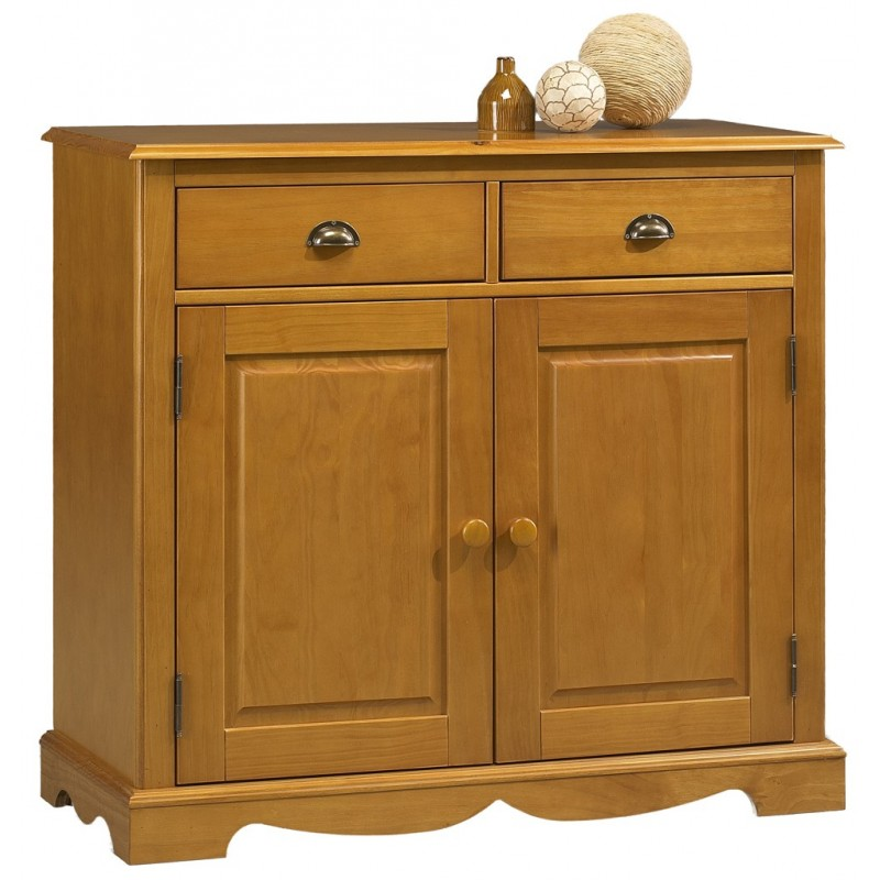 bahut buffet pin miel de style anglais 2 portes beaux meubles pas chers. Black Bedroom Furniture Sets. Home Design Ideas