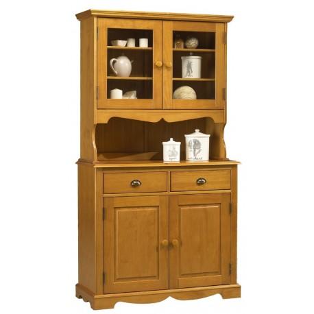 buffet vaisselier pin miel de style anglais beaux meubles pas chers. Black Bedroom Furniture Sets. Home Design Ideas
