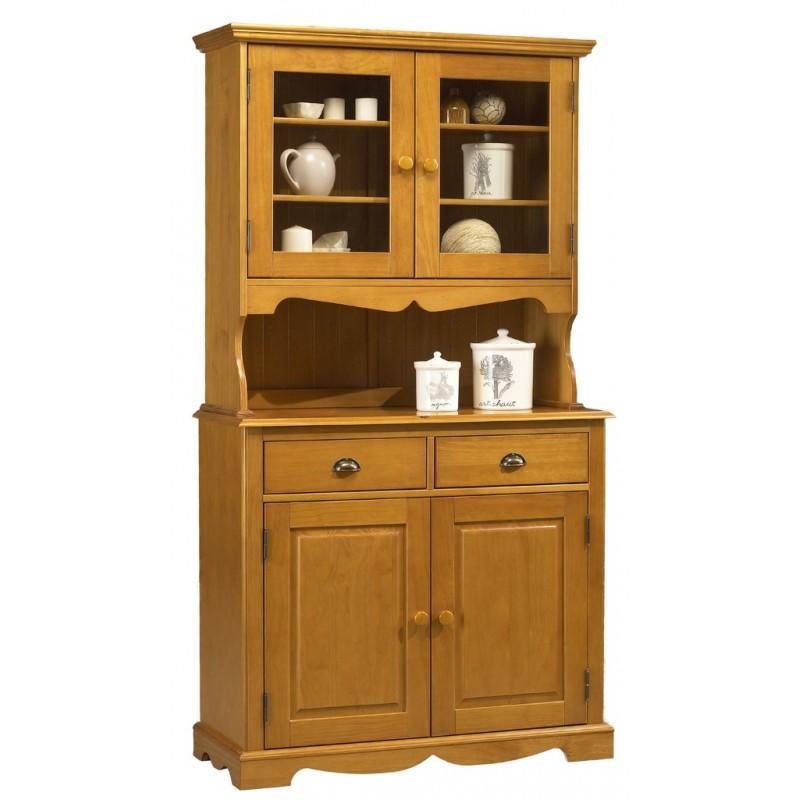 buffet vaisselier pin miel de style anglais beaux. Black Bedroom Furniture Sets. Home Design Ideas