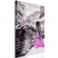 Tableau  Far Dreams (1 Part) Vertical Pink