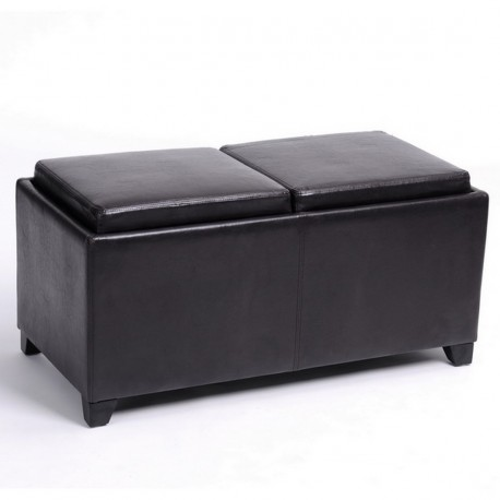 banc coffre 2 plateaux chocolat beaux meubles pas chers. Black Bedroom Furniture Sets. Home Design Ideas