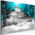 Tableau - Cascade of Thoughts (1 Part) Wide Turquoise