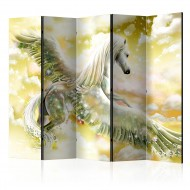 Paravent 5 volets  Pegasus (Yellow) II [Room Dividers]