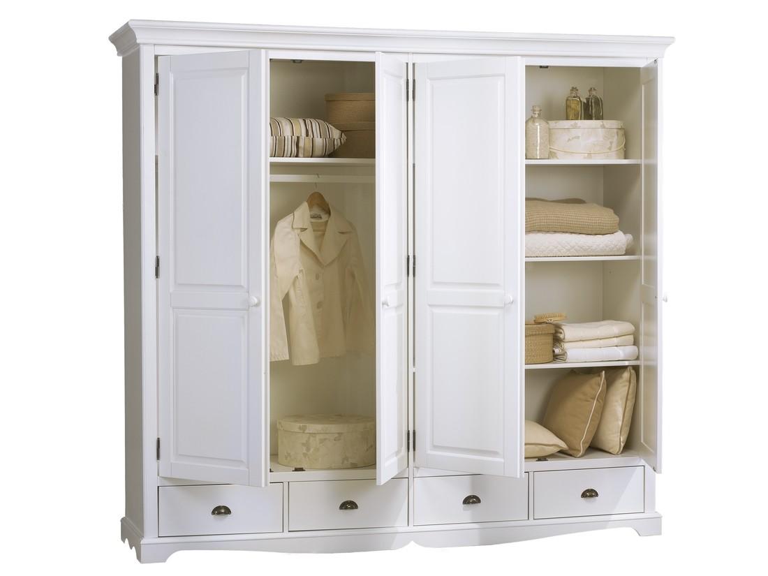 Armoire Dressing Chambre Adulte grande armoire penderie blanche - beaux meubles pas chers