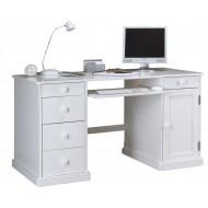 Bureau ministre informatique style anglais blanc 5T 1P 40505
