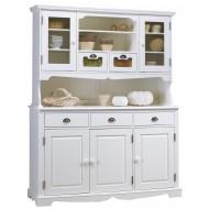 Vaisselier blanc 5 portes 3 tiroirs charme blanc