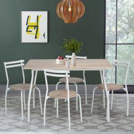 Table Repas 120 x 80 et 4 Chaises