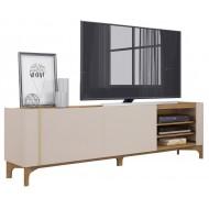 Meuble TV 203 cm TV 72 Pouces Blanc Chêne