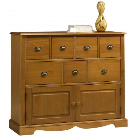 meuble du torrfacteur 2p 7 tiroirs style anglais pin miel 38807