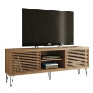 Meuble TV 72 Pouces 180 cm Pieds Bois Persienne