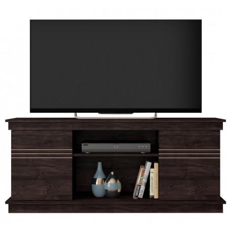 Meuble TV 55 Pouces 136 cm 2 Portes 2 Niches Wengé