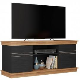 Meuble TV 55 Pouces 136 cm Chêne et Noir