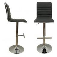2 Chaises de Bar Réglables Cerclage PVC Inox