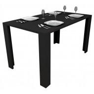 Table de Cuisine 136 cm Noire
