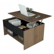 Table Basse Relevable 90 cm Châtaignier Noir