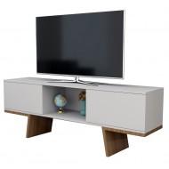 Meuble TV 60 Pouces 2 Portes Blanc