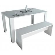 Table de Cuisine 136 cm Blanche