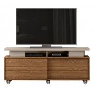 Meuble TV 150 cm 60 Pouces Maxi Chêne et Taupe