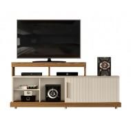 Meuble TV 160 cm Chêne et Blanc Ecru