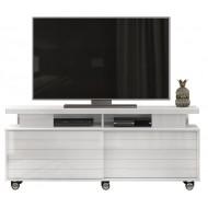 Meuble TV 150 cm 60 Pouces Blanc Brillant