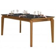 Table à Manger 6 Personnes Chêne et Noir