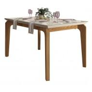 Table à Manger 4-6 Personnes Chêne et Blanc