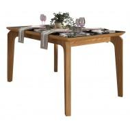 Table à Manger 4-6 Personnes Chêne et Noir