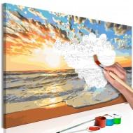 Tableau à peindre par soimême  Beautiful Baltic Sea