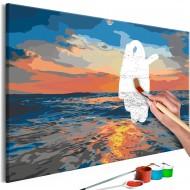 Tableau à peindre par soimême  At Sea