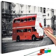 Tableau à peindre par soimême  London Bus