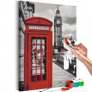 Tableau à peindre par soimême  Telephone Booth