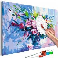 Tableau à peindre par soimême  Colorful Bouquet