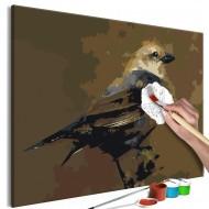 Tableau à peindre par soimême  Bird on Branch