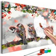 Tableau à peindre par soimême  Birds on the Branch