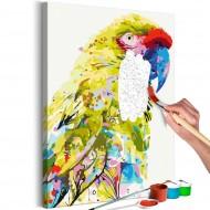 Tableau à peindre par soimême  Tropical Parrot