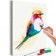 Tableau à peindre par soimême  Exotic Bird